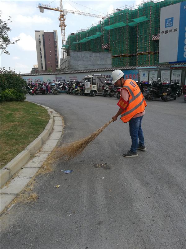 中建二局淮安片区志愿服务展风采